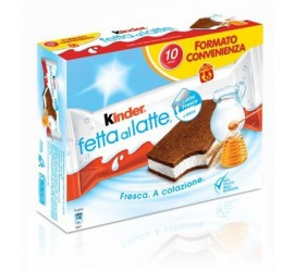 KINDER FETTE A LATTE 10 PIECES