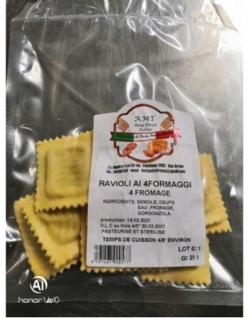 RAVIOLI 4 FROMAGE AMT 250 GR
